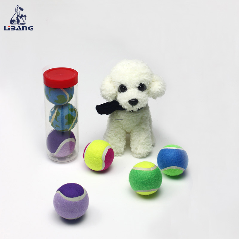 Colorful Pet Toys Type Tennis Ball And Globular Rubber Dog Toys