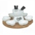 Fine heart shape ceramic chocolate sets , cheese burner fondue set for party