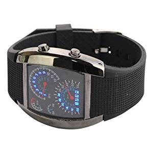 29803 Gift Unisex NWxJo Blue Binary mK3f6bb LED Light Dot Matrix Multi-function Display Aviation Wrist Watch watch clock time wrist hand arm dkkqi bncmsdertu dker rths34 fr4 This is multi-function display blue LED aviation watch. 6gLfYCT It is very