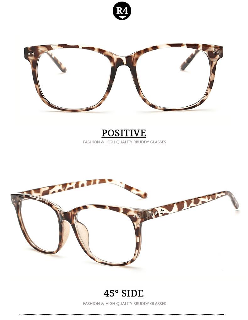 7b3b729962 RBUDDY Women Eyeglasses Brand Designer Square Frame Gradient Women Optical  Clear Len Glasses Unisex Eyeglasses Frames For Men ...