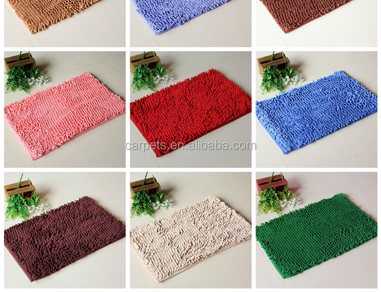 New Country Kitchen Rugs Polyester Microfiber Bath Mat Hot Chenille Large Bathroom Rug