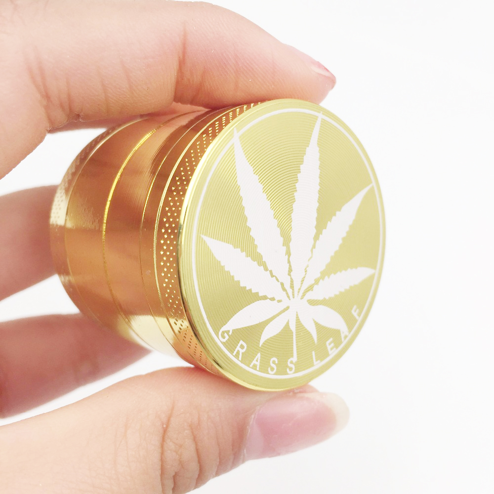 Hot Gold Aluminum Alloy Grinders Metal Rasta Metal Tobacco Herb Spice Grinder Smoking Weed 4layers Crusher Hand Muller grinder