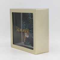 HOT SELLING PLASTIC MONEY BOX WITH SCREENPRINT GLASS AND PAPER