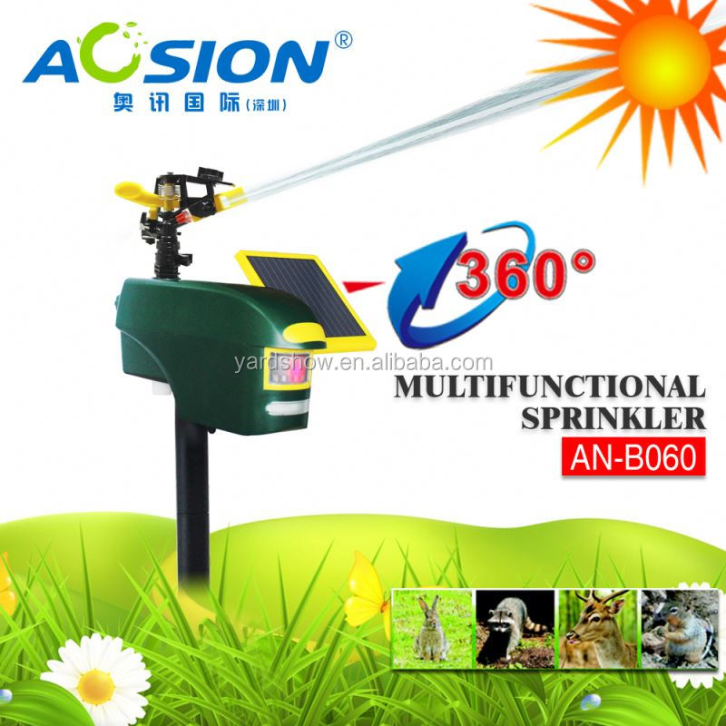 Aosion Hot sale LED garden water sprinkler With PIR Sensor and double filter AN-B060