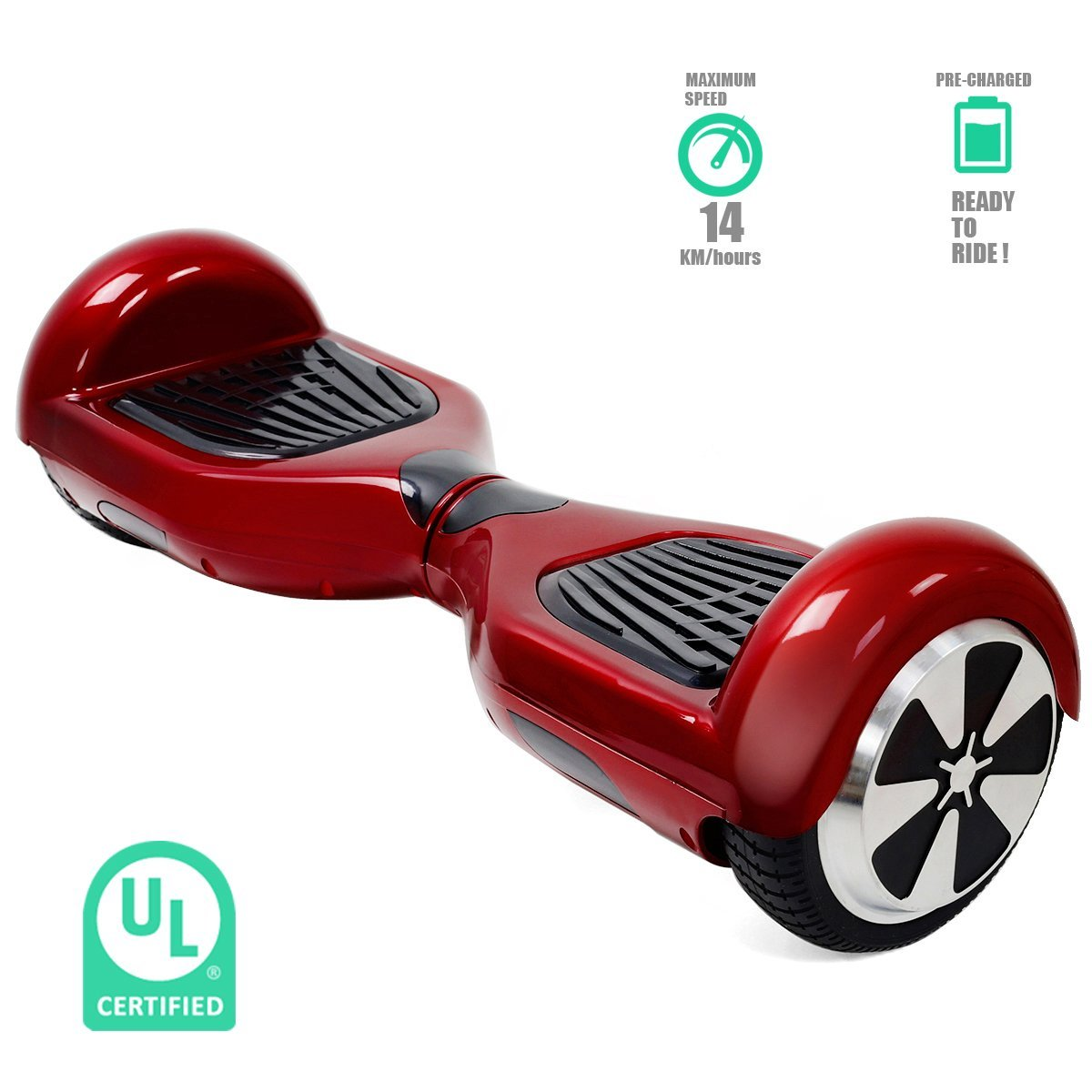 Self-Balancing Scooter 2 Wheels Electric Hoverboard UL Certified Various Colors (red)