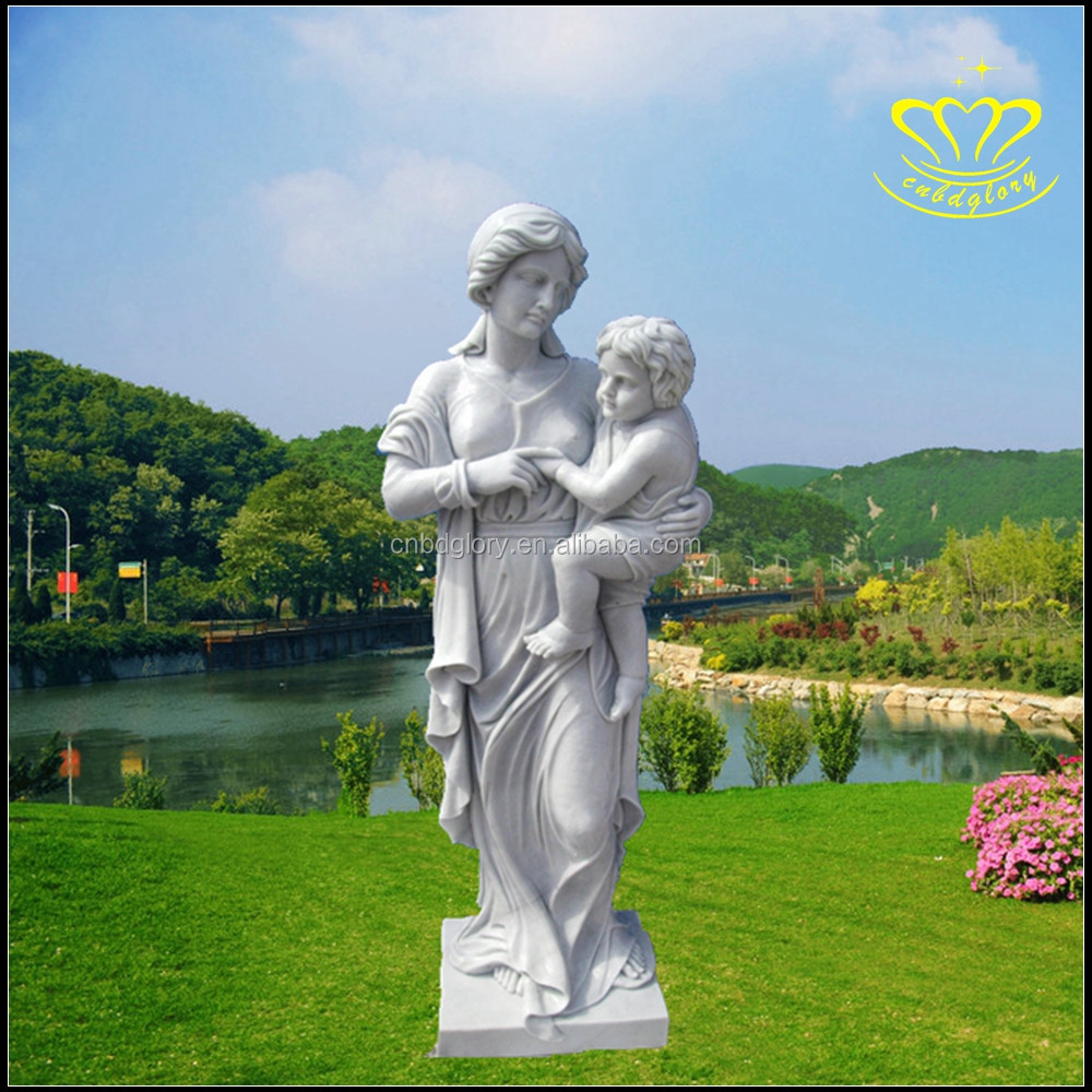 Hand carved New product Religious Christian Catholic Life size marble statue of the Virgin Mary for home & garden decor