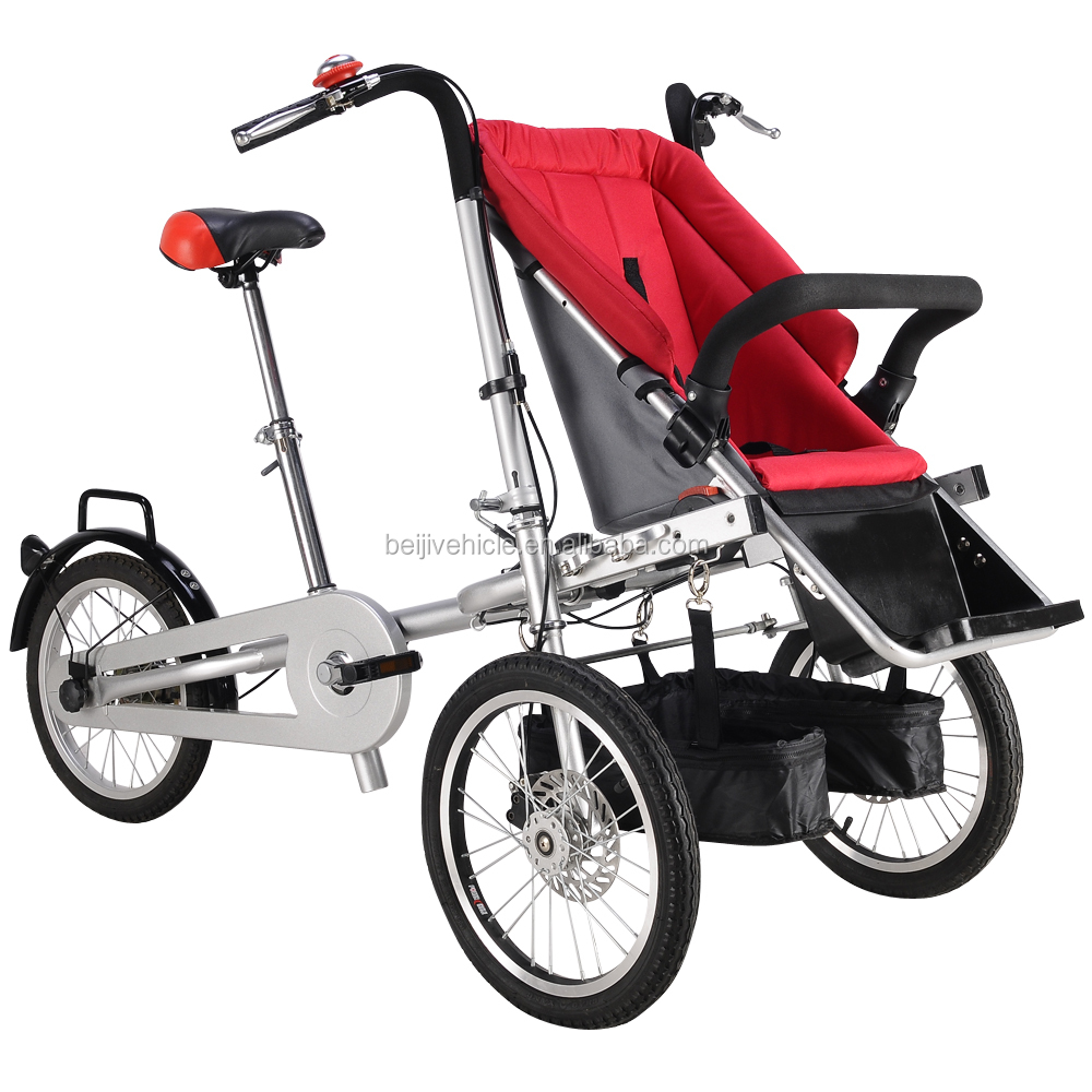 Original manufacture folding 3 wheel stroller bicycle second hand baby stroller