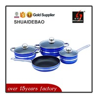 High quality custom colorful copper nonstick cookware