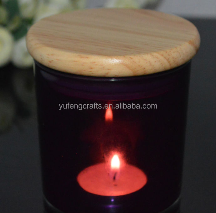 candle holder with wooden lid wedding deco