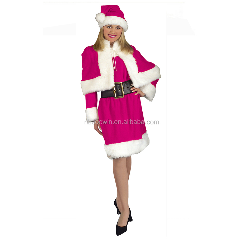 Christmas Fancy Dress.Hot Pink Miss Santa Claus Women S Costume Christmas Fancy Dress Outfit Buy Miss Claus Women S Costume Christmas Santa Dress Outfit Product On
