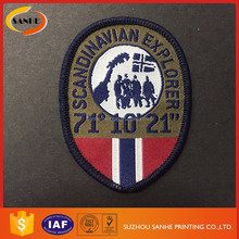 Wholesale Custom Woven Embroidery Badge Football Embroidery Patch