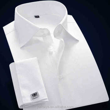 2014 French Style White Button-down Collar Luxury Cvc Slim Fit ...