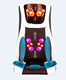 Hot sale shiatsu and tapping air pressure machine full body massager