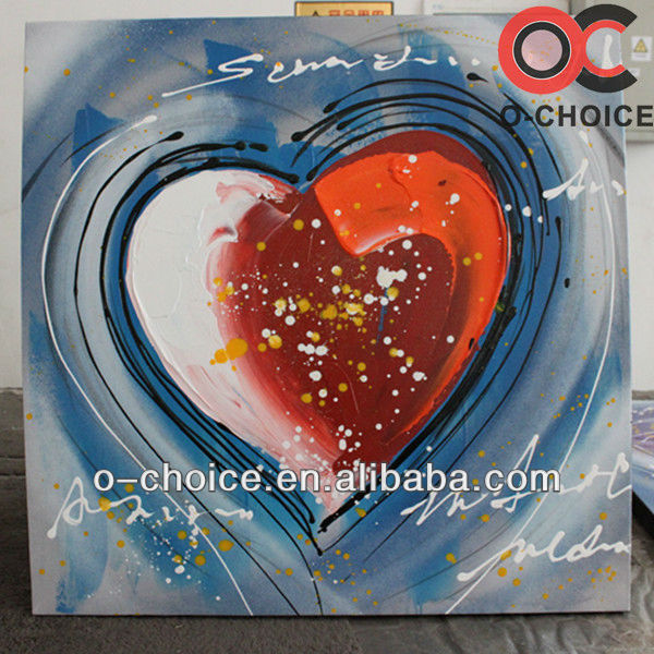 Newest design handpainted abstract paintings with description of painting