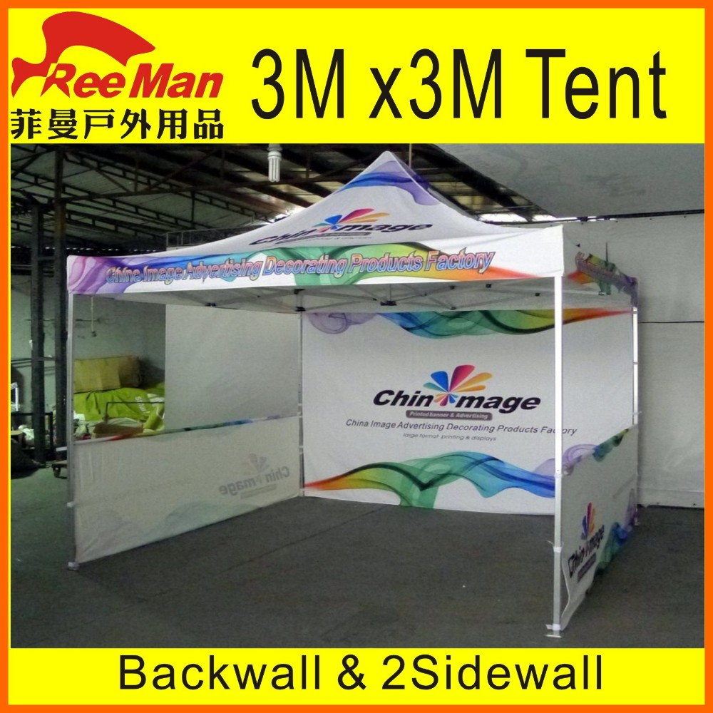 Sublimation 3 x 3m Aluminum Frame Portable Folding Straight Leg Canopy Tent For Outdoor and Indoor & Sublimation 3 X 3m Aluminum Frame Portable Folding Straight Leg ...