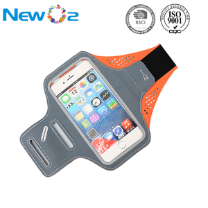 Hot sale multi-color for choose Lycra fabrics reflective smart phone mobile armband for sports
