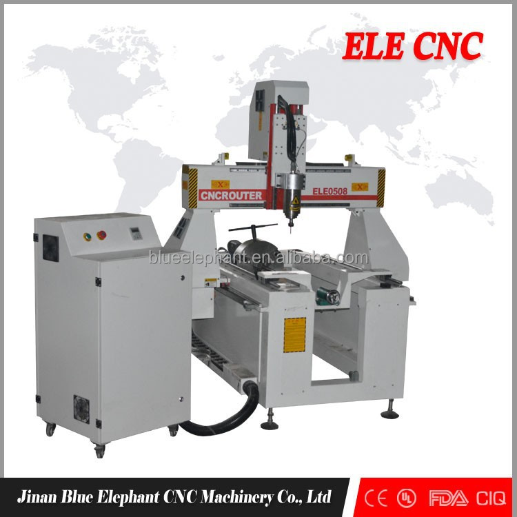 High quality 5 axis cnc wood router, cnc 3d engraving 4 axis router with rotary device