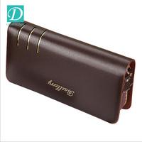 Double Zipper Men Clutch Bags Genuine Leather Wallet Men New Brand Wallets Male Long Wallets Purses