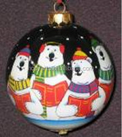 Wholesale new design and high quality Inside Painted Christmas Glass Ball