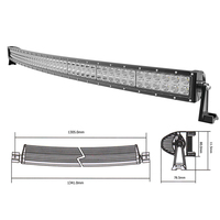 Auto 4x4 offroad driving Car truck roof top working off road driving bar light LED Curved LED Light Bar 50 inch 288 Watt