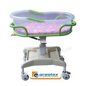 ABS Hospital New Born Baby Hospital Cot Bed With Wheel