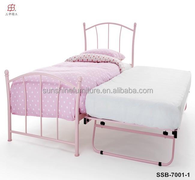 m tal pas cher fer blanc rose noir queen lit gigogne lit lit en m tal id de produit. Black Bedroom Furniture Sets. Home Design Ideas