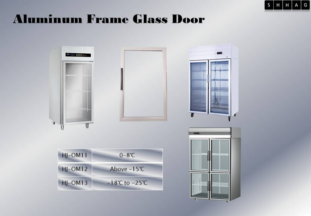 Aluminum Frame Glass Door For Refrigerated Freezerdouble Glazed
