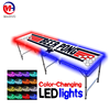 outdoor furniture 8ft folding custom beer pong table for led