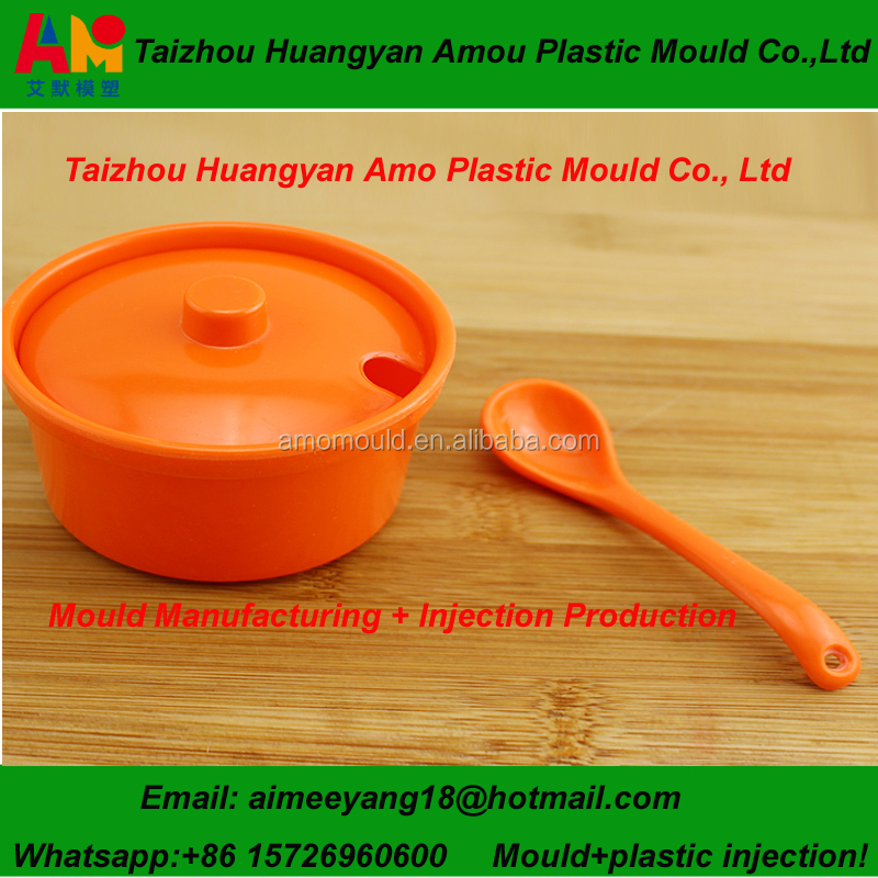 Plastic injection seasoning box mould with LKM standard mould base