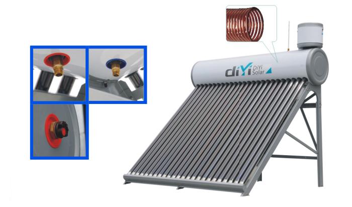 58 1800mm integrative copper coil pressurized heat pipe for Copper pipe heater