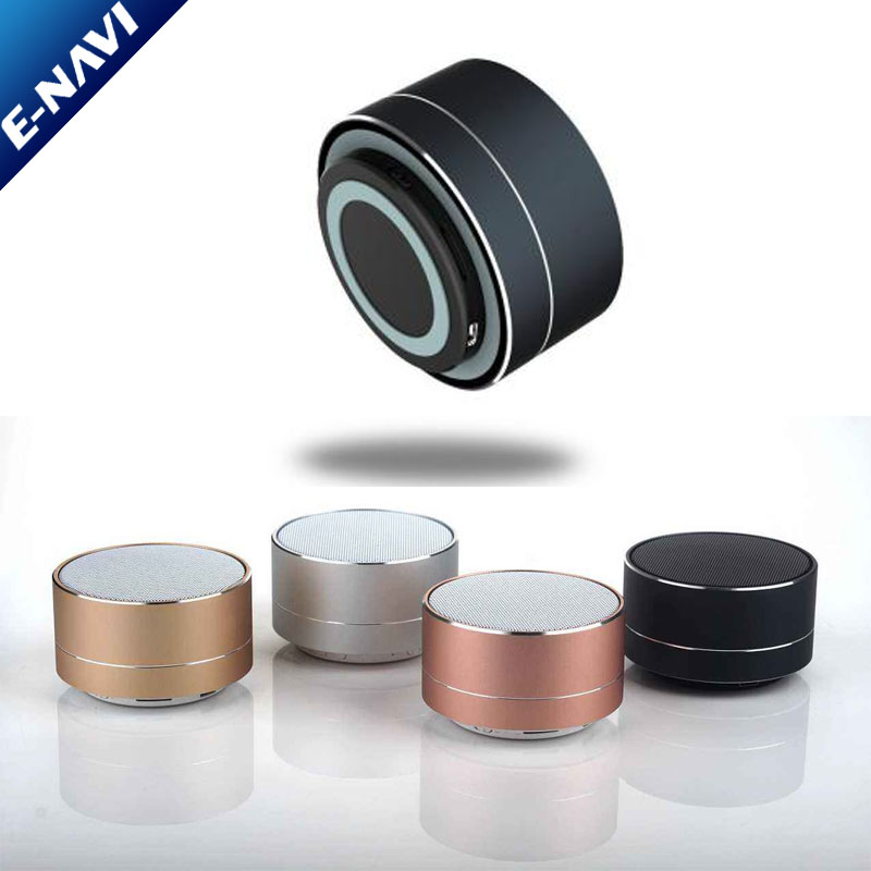 Promotional Metal FM LED Wireless Portable Mini Speaker for Outdoor Party