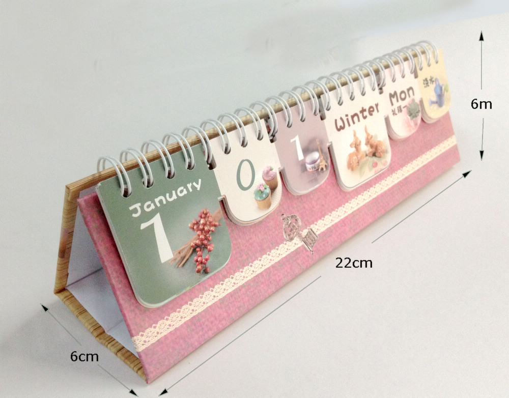 Handmade Calendar Design : Custom printing desk calendar design customized creative