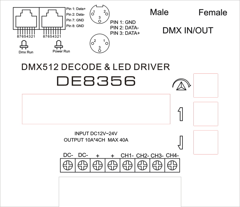 Xlr rj45 interface 4ch dmx 512 controller manual with lcd display xlr rj45 interface 4ch dmx 512 controller manual with lcd display wiring diagram cheapraybanclubmaster Gallery