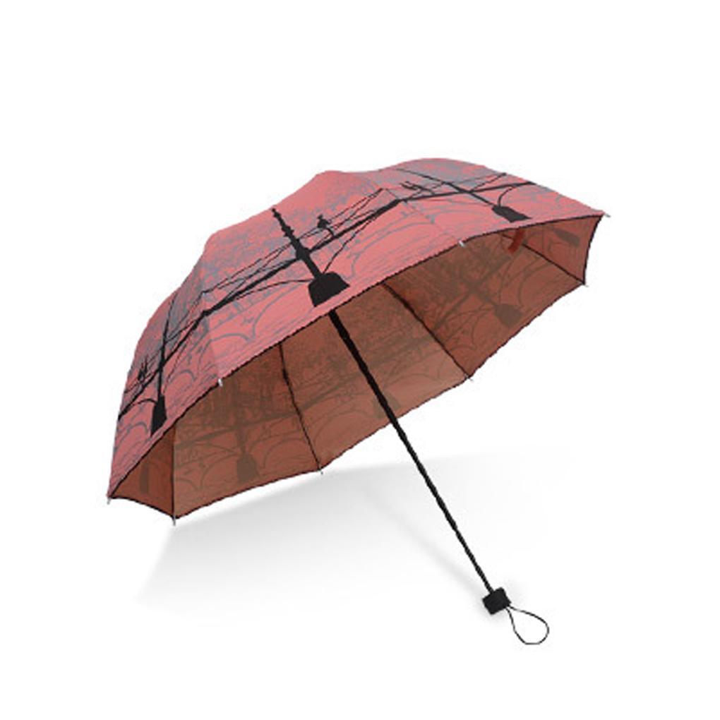 Durable Landscape Bridge Design Anti-UV Sun Umbrella Triple Folding UV  Protected Parasol - us127 417314bcb66