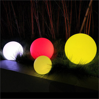 illuminated stones garden glowing rechargeable outdoor solar led stone ball light swimming pool ball light