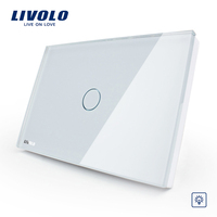 Livolo excellent quality US/AU standard switch modern and elagant white glass dimmer wall switch VL-C301D-81