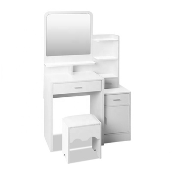 new style mirrored white good quality cheap price dressing table designs with drawer for home bedroom or hotel use