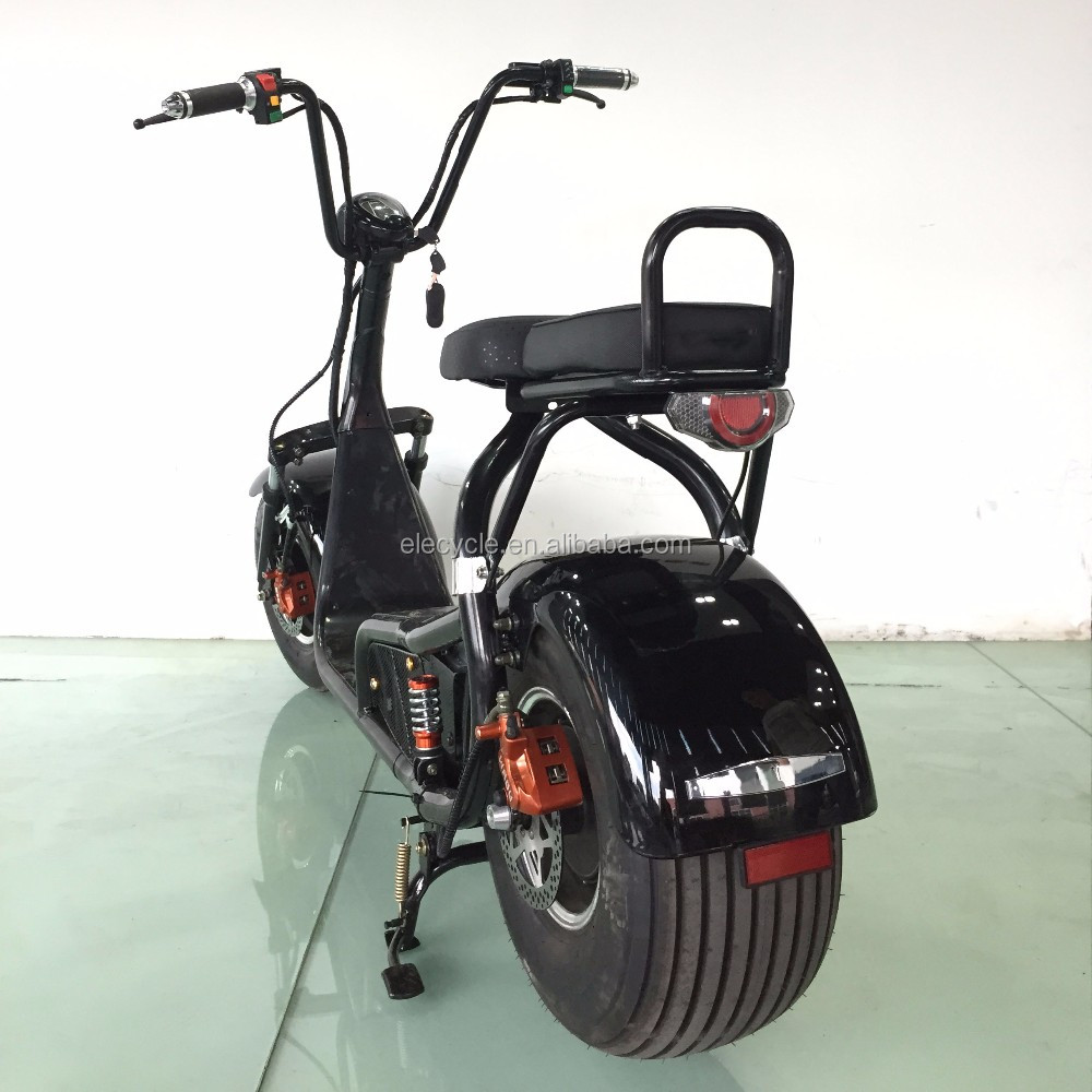 48v 800w electric motorcycle scooter with big wheels for Big wheel motor scooter