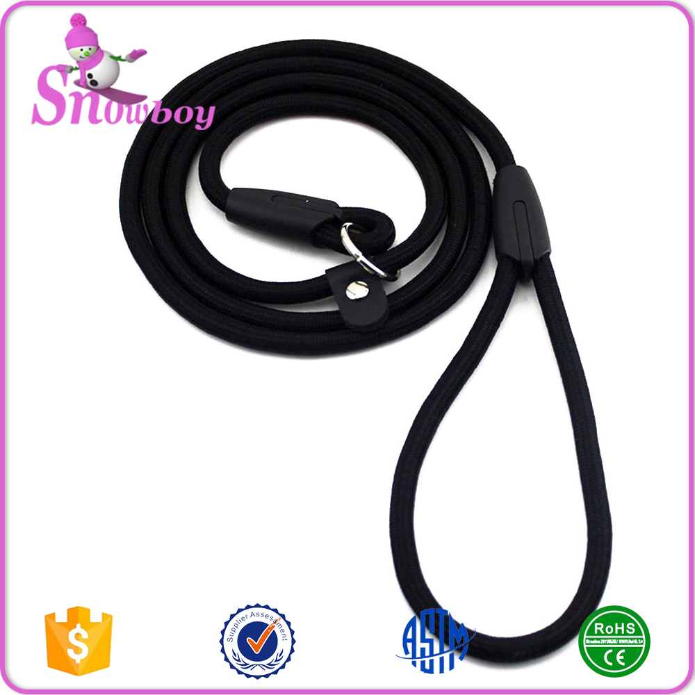 Pet Dog Round Nylon Rope Training Leashes P-Chain Lead Adjustable Traction Collar