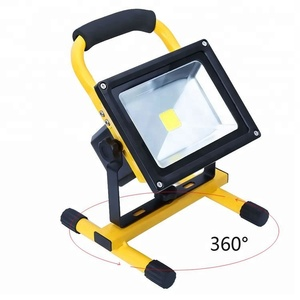 3000K 6000K 30 Watts Indoor/Outdoor LED Flood Light IP 65 Waterproof Rechargeable Portable Job Site Work Light