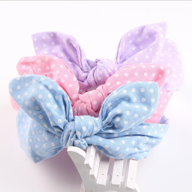 57bfd0a0e055c Enfants Accessoires De Cheveux Belle Oreille de Lapin Bébé Bandeaux  Élastiques Mode Bambin Doux scrunchie Noeud