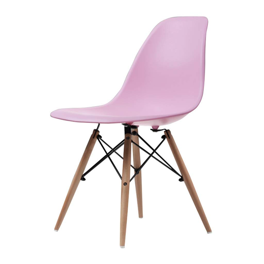 Wooden Chair Creative Office Stools Kitchen Dining Table Meeting Room Backrest Business Computer Chair Barstools,45x45x82cm,Pink