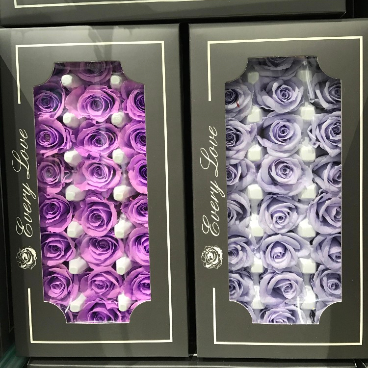 24 pcs./box Fresh Real Preserved Rose Com Preço de Fábrica