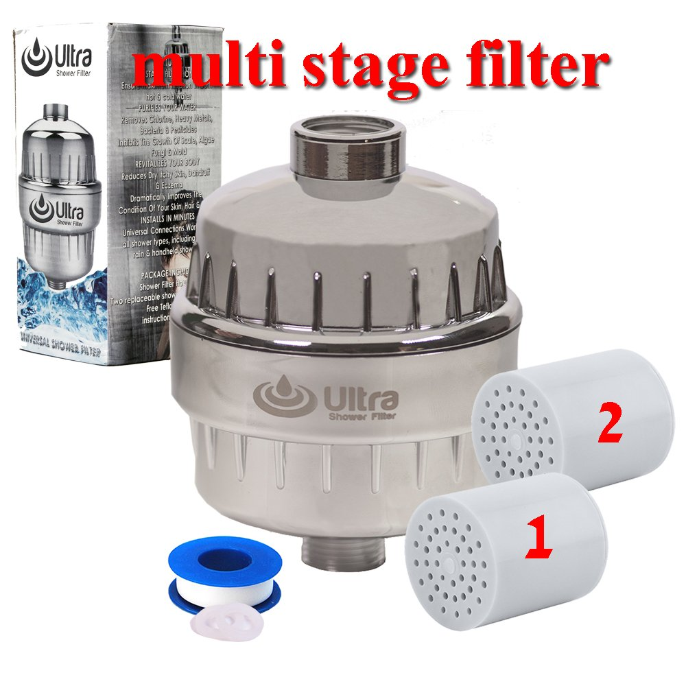 Buy Ultra Shower Filter With 2 Replaceable Multi Stage Hard Water ...