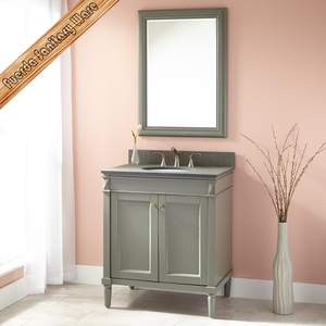 FED-301A 30 inch grey finishing modern solid wood bathroom vanities