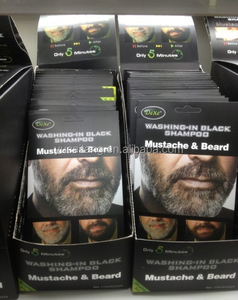 Mustache & beard dye with some shampoo sachets