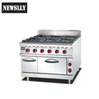 Restaurant Equipment 6 burner commercial gas ranges gas cooker stove