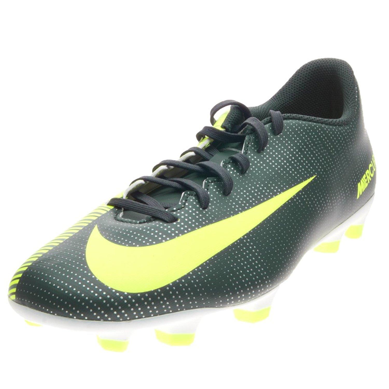 7d19c3afd Get Quotations · Nike Mercurial Vortex III CR7 FG Seaweed Volt Hasta White  Men s Soccer Shoes