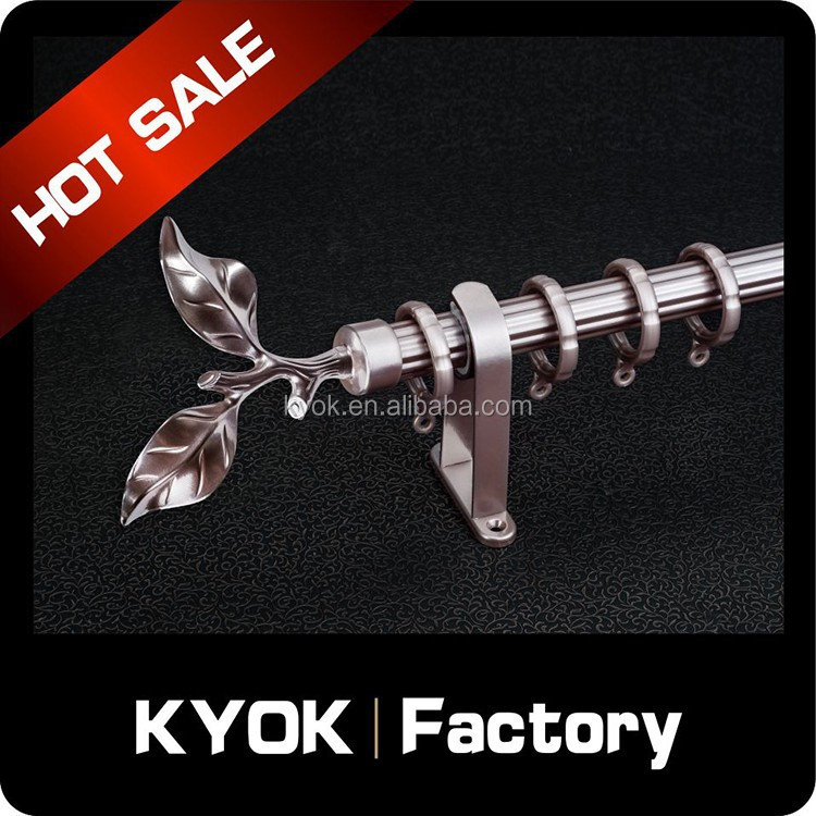 KYOK Low price prower spraying curtain pipe set wholesale, simple style home curtain rod end/finial, single curtain holder