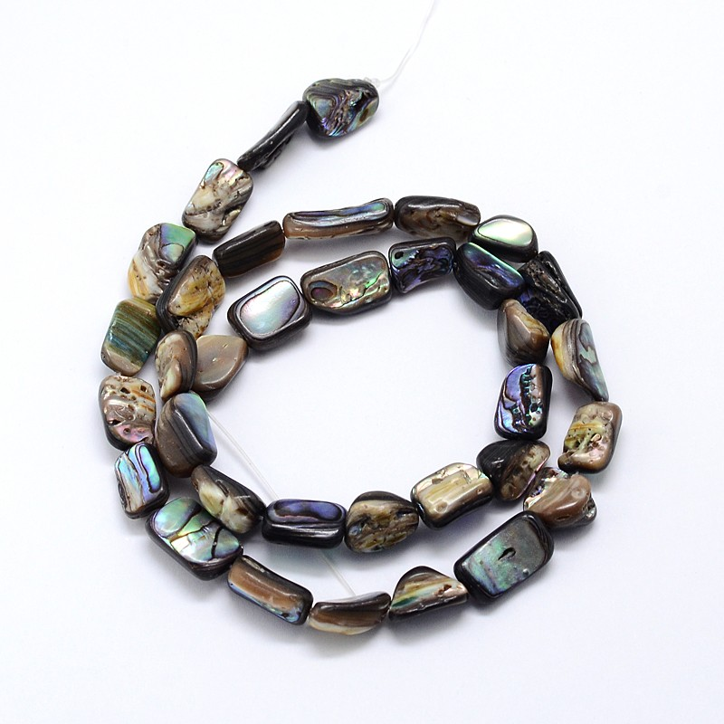 Factory Colorful Nuggets Paua Naughty Shell Beads Multi Strands
